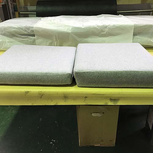 ソファ修理事例座面・背張り替え、ウレタン交換